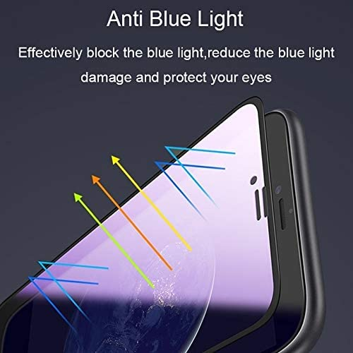 Phone Screen Protectors 25 PCS AG Matte Anti Blue Light Full Cover Tempered Glass for Vivo S1 Pro