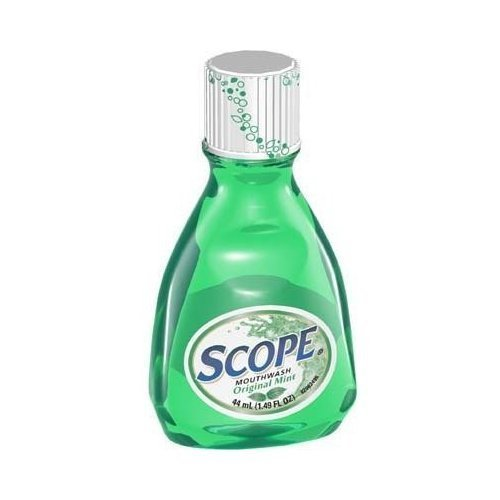 Travel Size Mouthwash - Scope Mouthwash, Original Mint, Travel Size 44 Ml / 1.49 Fl Ounces (Case of 12)