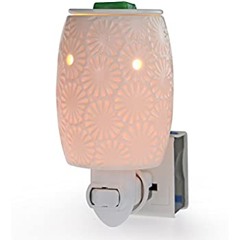 StarMoon Plug in Wax Warmer for Home Décor, Outlet Wax Warmer, Home Fragrance Diffuser, Removable Dish, No Flame, with One More Bulb (Daisy)