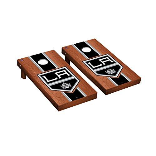 Victory Tailgate Los Angeles Kings NHL Regulation Cornhole Game Set Rosewood Stripe Version