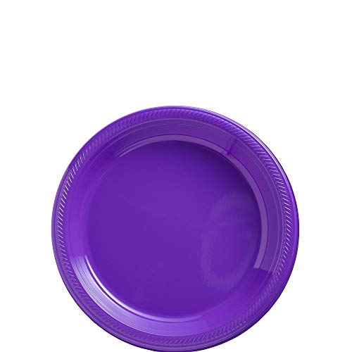 Amscan New Purple Plastic Plate Big Party Pack, 50 Ct.