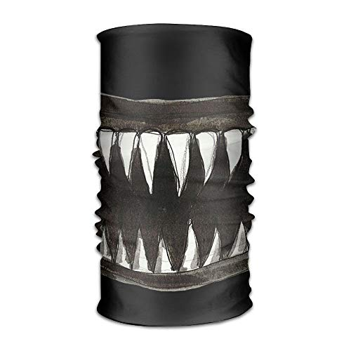 Scary Teeth Jaw of Shark Clipart Headwrap Unisex Multifunction Headwear Polyester Quick Dry Soft Headband Neck Scarf,Premium Headdress Travel Magic Head Scarf Bandana Mask Neck Gaiter for Men Women