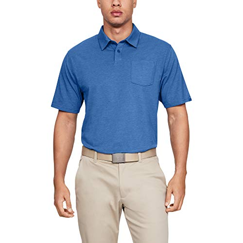 Under Armour mens Charged Cotton Scramble Golf Polo, Tempest (510)/Tempest, ()