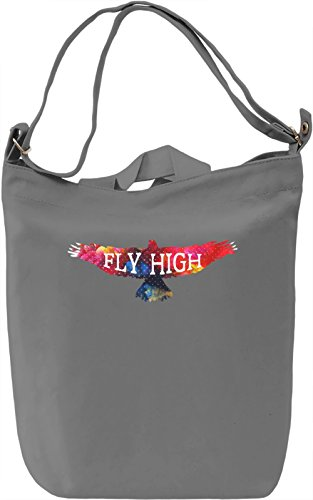 Fly High Borsa Giornaliera Canvas Canvas Day Bag| 100% Premium Cotton Canvas| DTG Printing|