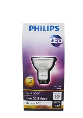 Philips Indoor Spot Light Base LED Light Bulb, Dimmable