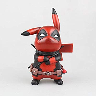 PAPWELL Pikachu Deadpool Action Figure 4 inch Hot Toys Marvel Legends Xforce Xmen Antihero Toy Small Superhero Figures Pokemon Christmas Collectibles Halloween Collectible Gifts Collectable Gift Kids