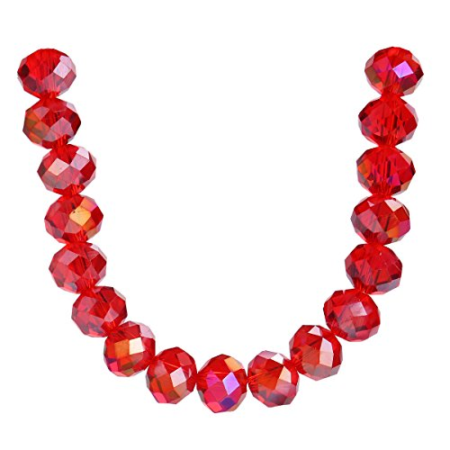 500Pcs 3mm 4mm 6mm 5040# Faceted Loose Rondelle Crystal Glass Beads Spacer Lot Colors U Pick (6mm, Red AB)