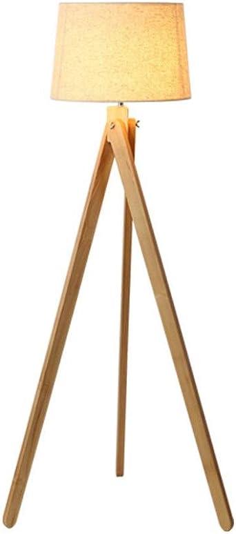 Lámpara de mesa moderna, minimalista, moderna, de madera, cálida ...