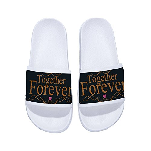 Buteri Quote Slippers Slippers for Womens Slip W Drying Non Forever Gold Quick Together Mens txSwzx