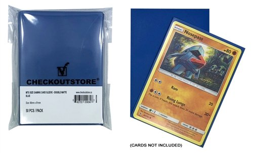 CheckOutStore 5,000 Double Matte Blue Protective Sleeves for Trading Cards (66 x 91 mm)