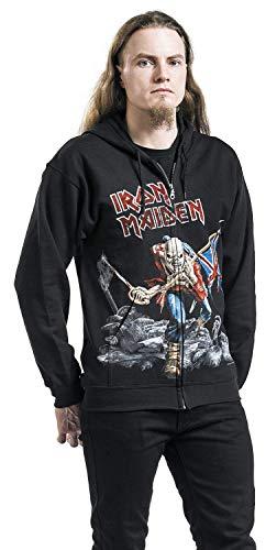 Iron Capucha Cremallera Negro Trooper Maiden The Battlefield Con rHxvgr6qI