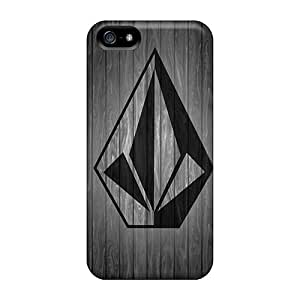 JoannaVennettilli Apple Iphone 5/5s Perfect Cell-phone Hard Cover Unique Design Realistic Volcom Wood Image [Rqx1067PNkN]