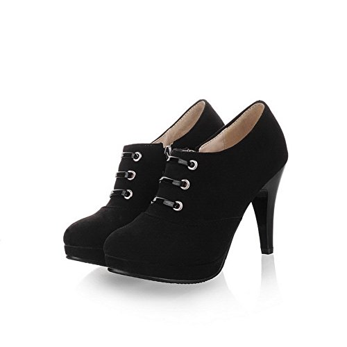 Chaussures pour à Fermeture Pompes balamasa Éclair femme Noir Hauts Talons solide FnBq7
