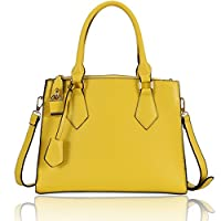 Hynes Eagle Sweet Ladies Tote Handbags with Adjustable Shoulder Strap (Yellow)