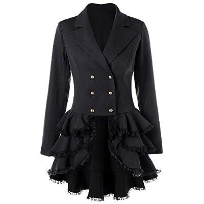 YOcheerful Deals Womens Tuxedo Coat Trench Coat Overcoat Lady Cool Jacket Outerwear Parka