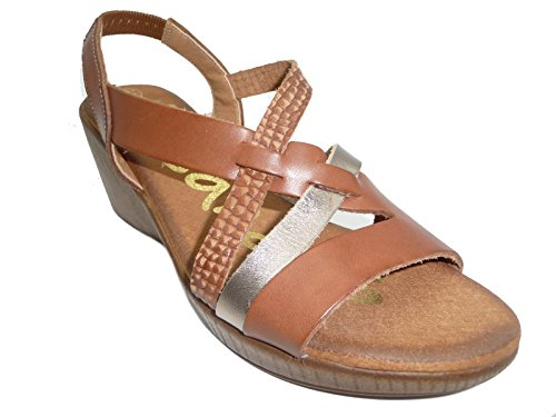 TIRAS OH CUERO MUJER CUÑA SANDALS MY SAND 3658 zB8Iq