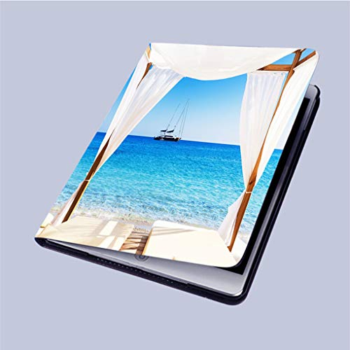 Balinese Shell - Compatible with 3D Printed iPad 9.7 Case,View-of-The-Beautiful-Beach-Through-a-Balinese-Bed Lightweight Anti-Scratch Shell Auto Sleep/Wake,Back Protector Cover iPad 9.7