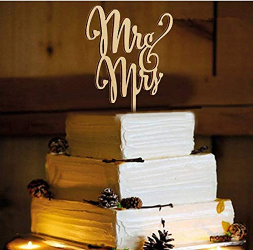 Mr and Mrs Cake Toppers, KOOTIPS Wooden