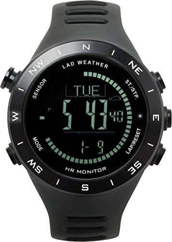 LAD-WEATHER Outdoor Watch Heart Rate Monitor Altimeter Barometer Compass Thermometer USB Rechargeable Climbing Watches