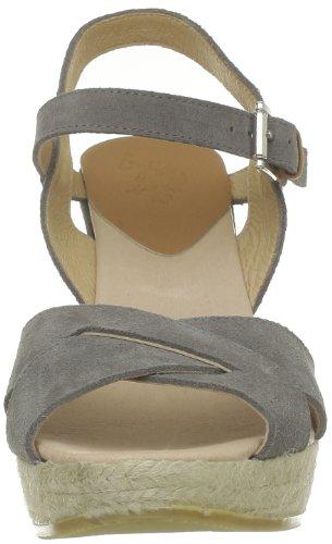 US Polo Assn - Sandalias de terciopelo para mujer Gris (Gris (Grey))