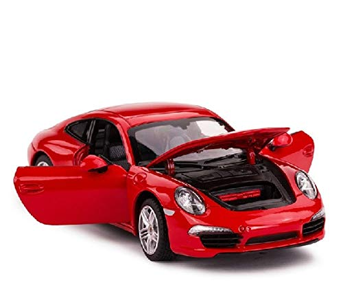 Cailiaoxindong New car Alloy Cars Model 1:24 for 911 diecast Metal car Model car Toy red Color Models car as Gift for Children