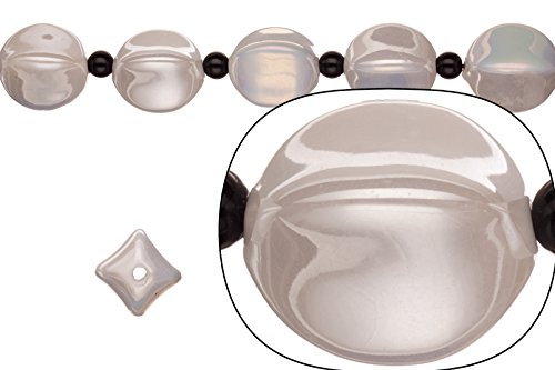 - Porcelain Beads fluted round cream white 14x14x20mm 08pcs/pack (2packs bundle), SAVE $1