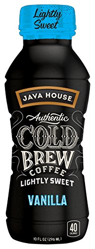 Java House Authentic Cold Brew Lightly Sweetened, Vanilla, 10 Ounce, 12 Count by Java House