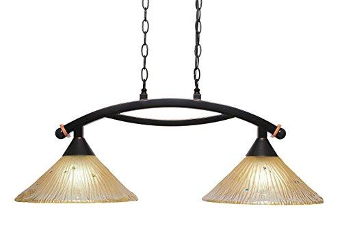 Concord Ceiling Pendant - Filament Design Concord 2 Light Ceiling Black Copper Incandescent Pendant