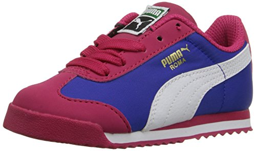 PUMA Roma Basic Summer Kids Classic Style Sneaker (Toddler/Little Kid) , Rose Red/White, 9 M US Toddler by PUMA