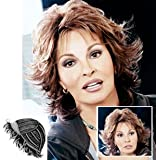 Hairdo HairUwear RW Breeze Collection, Short Textured Layers with a Feathered Bob Style Hair Wig for Women, SS28 Shadow Shade Glazed Fire