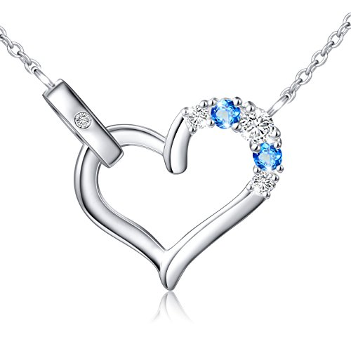 Christmas Gift S925 Two-Tone Cz Forever Love Heart Necklace for Women Lady,18