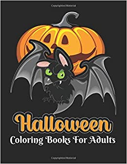 Halloween 2020 Publisher Amazon.com: Halloween coloring books for adults: 50 unique Fun