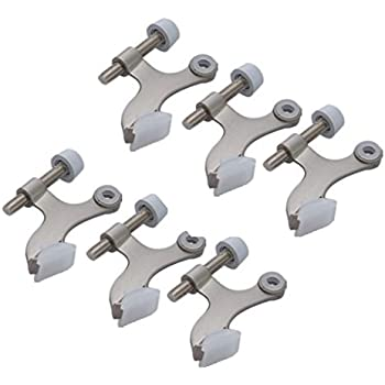 Better Home 6-Pack Hinge Pin Satin Nickel Door Stopper, Easy to Install