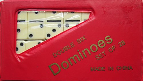 Fame 6631IV Double 6 Mini Ivory Domino Set