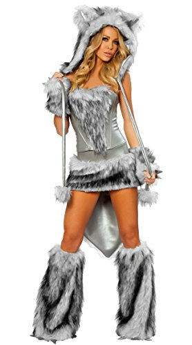 Toddler Big Bad Wolf Costume Infant and Toddler Costumes White/Silver -