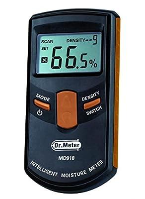 Dr.meter MD-812 LCD Display Digital Wood Moisture Meter for Wood, Sheetrock, Carpets and