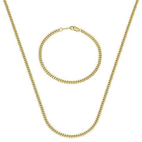 3mm Gold Plated Flat Cuban Link Curb 24