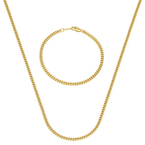 Gold Plated Cuban Chain Bracelet