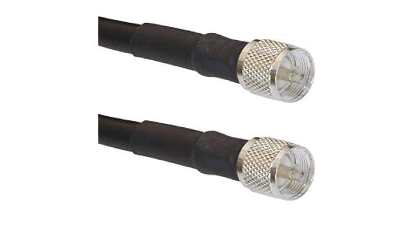 MPD Digital 50 ft jamón/CB Radio Antena Coaxial LMR-400 50 Ohm Coaxial Antena Cable Línea de Transmisión PL-259 Conectores fabricado en los Estados Unidos: ...