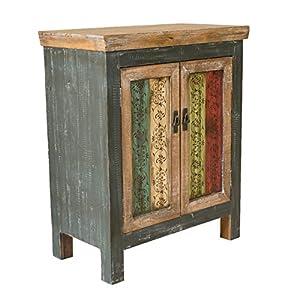 Christopher Knight Home Everest Collection 2-Door Cabinet, Antique Dark Green