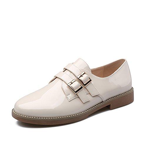 primavera zapatos de señora/Escuela de bromista de tacón de gatito de charol de ocio A