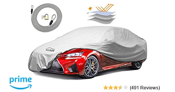 XCAR Breathable Dust Prevention Car Cover Fits Sedan Hatchback Up To 200 Inch In Length