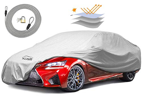 XCAR Breathable Dust Prevention Car Cover-Fits Sedan Hatchback Up to 200 Inch in Length ()