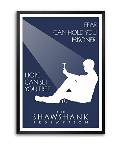 Lab No. 4 Fear Can Hold You The Shawshank Redemption Movie Quote Framed Poster In (11