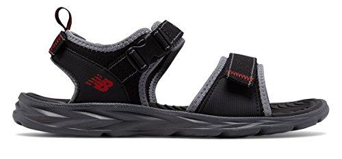 スタックすごい白内障(ニューバランス) New Balance 靴?シューズ メンズサンダル Response Sandal Black with Grey ブラック グレー US 9 (27cm)