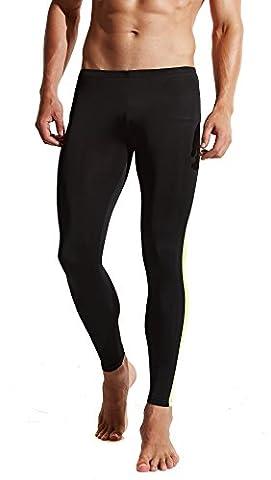 Funycell Compression Pants Running Leggings Base Layer Tights Men Women Black M