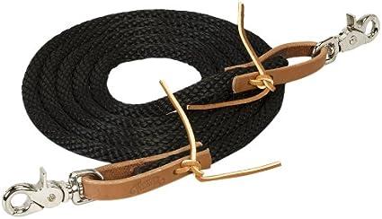 Black 3//8-Inch x 8-Feet Weaver Leather Poly Roper Rein