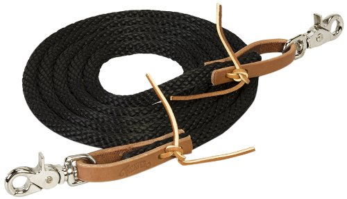 Weaver Leather Poly Roper Rein, 3/8-Inch x 8-Feet, Black