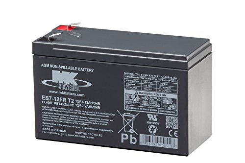 MK Battery ES7-12FR T2 Maintenance-Free Rechargeable Flame Retardant Sealed Lead-Acid Battery by MK Battery