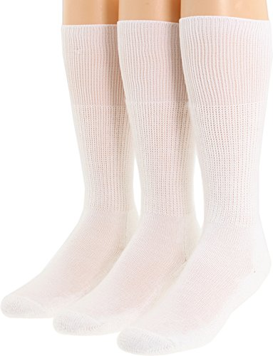 Thorlos Unisex Western Dress 3-Pair Pack White (Calf Western Dress Socks)